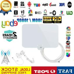 1byone 100 Mile Range TV Digital Antenna with Amplifier 1080