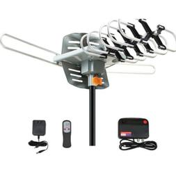 420 Miles Outdoor TV Antenna motorized Amplified HD TV High