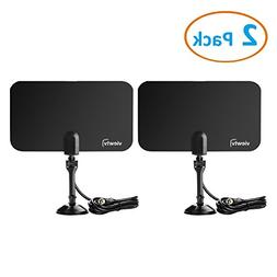 ViewTV Flat HD Digital Indoor TV Antenna 2 Pack Bundle - 25