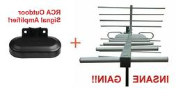 Amplified 250 Mile Vers HD TV Antenna + Includes Low Noise R
