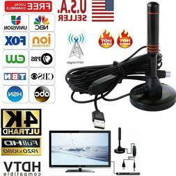 HDTV Antenna Aerial HD 300 Mile Digital TV Signal Booster Am
