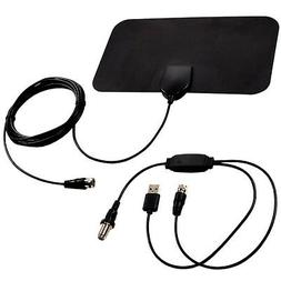 HQRP Indoor HDTV Amplified 4K 1080p 35-50 Miles Antenna for