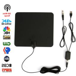 Indoor Signal Amplified HDTV TV HD Antenna 300 Mile Digital