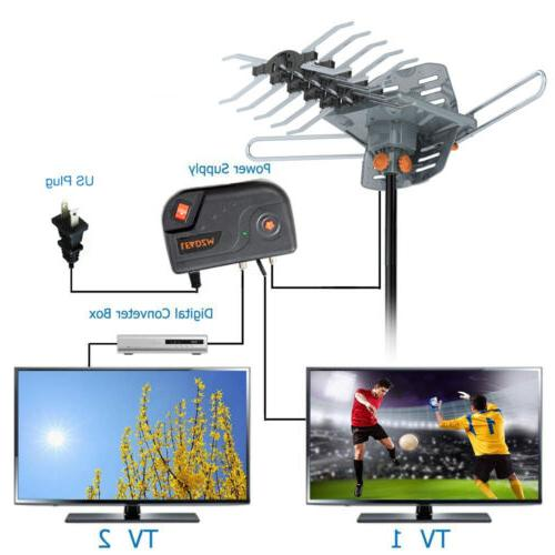 200 Mile 4K HDTV TV Motorized Amplified 36dB Rotation