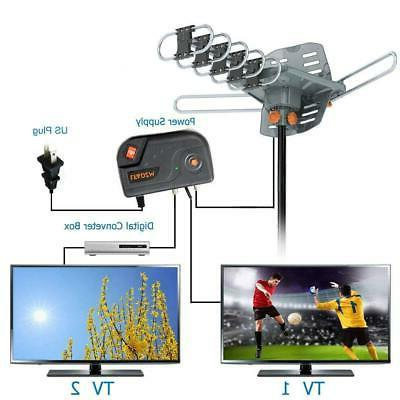 220Mile Long Range TV Antenna Amplified Outdoor HD Digital 4