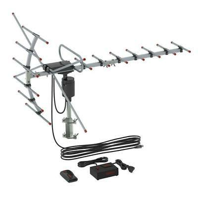 990 Miles 1080P Outdoor Amplified Digital TV Antenna VHF UHF