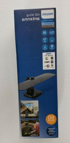 Philips HD Mobile TV Wing Antenna ,Indoor Outdoor  and Attic