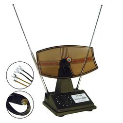 Rotating Antenna Indoor Rabbit Ear for Color TV UHF VHF HDTV