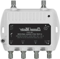Signal Booster Distribution Amplifier For Cable Antenna 4 Po