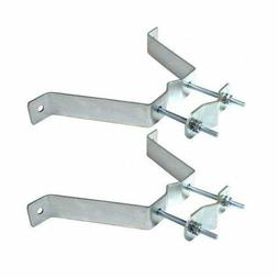 "TV Antenna Mast Bracket 2"" inch Standoff W Style Wall Mount"